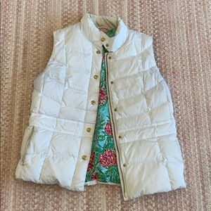 Lilly Pulitzer white puffer vest size Large